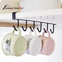 Iron Kitchen Storage Rack Cupboard Hanging Hook Shelf Dish Hanger Chest Storage Shelf Bathroom Organizer Holder