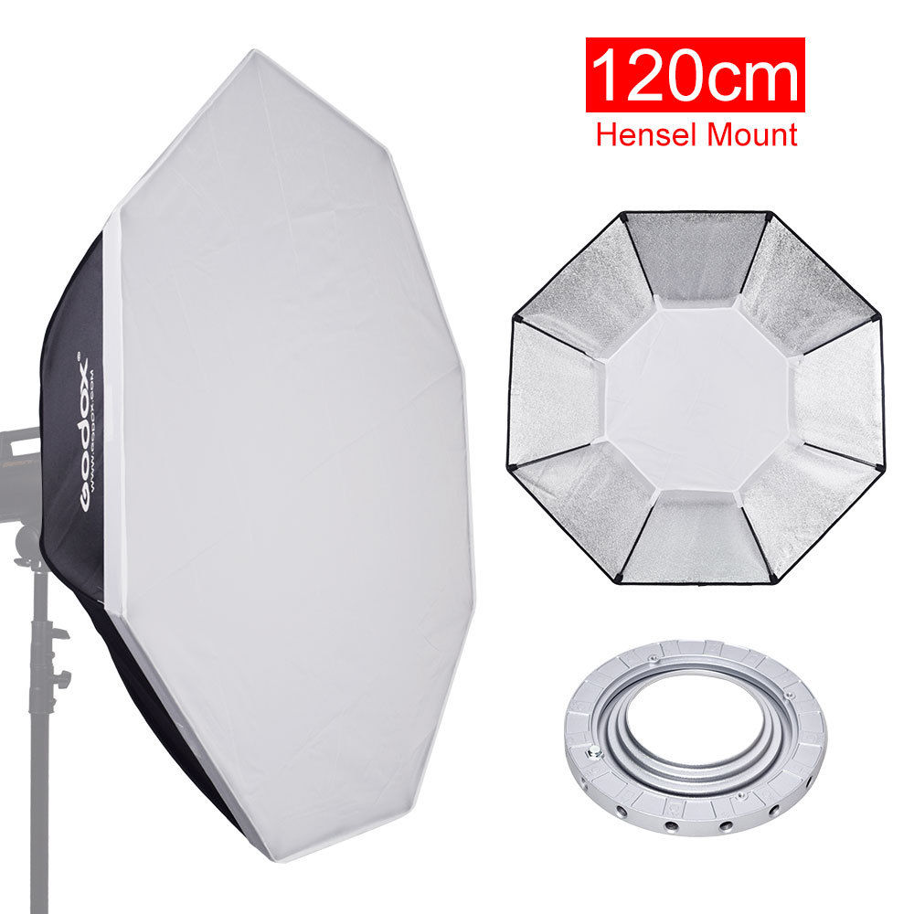 Octagon Softbox 120cm 48 w/ Speedring Mount for Hesel Studio Strobe Flash LightOctagon Softbox 120cm 48 w/ Speedring Mount for Hesel Studio Strobe Flash Light