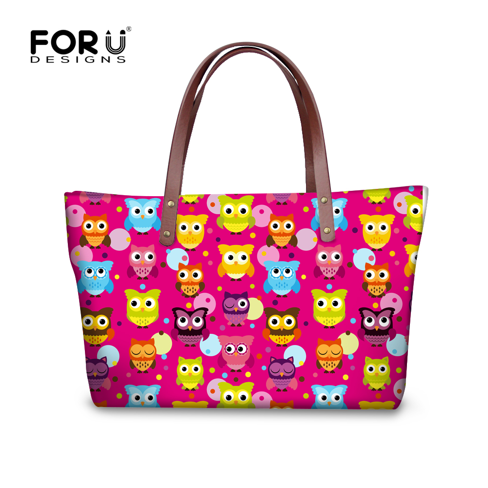 ФОТО 2017 Korean Style Women Handbags Cute Cartoon Owl Large Capacity Tote Shoulder Bag Brand Designer Sac A Main Femme De Marque