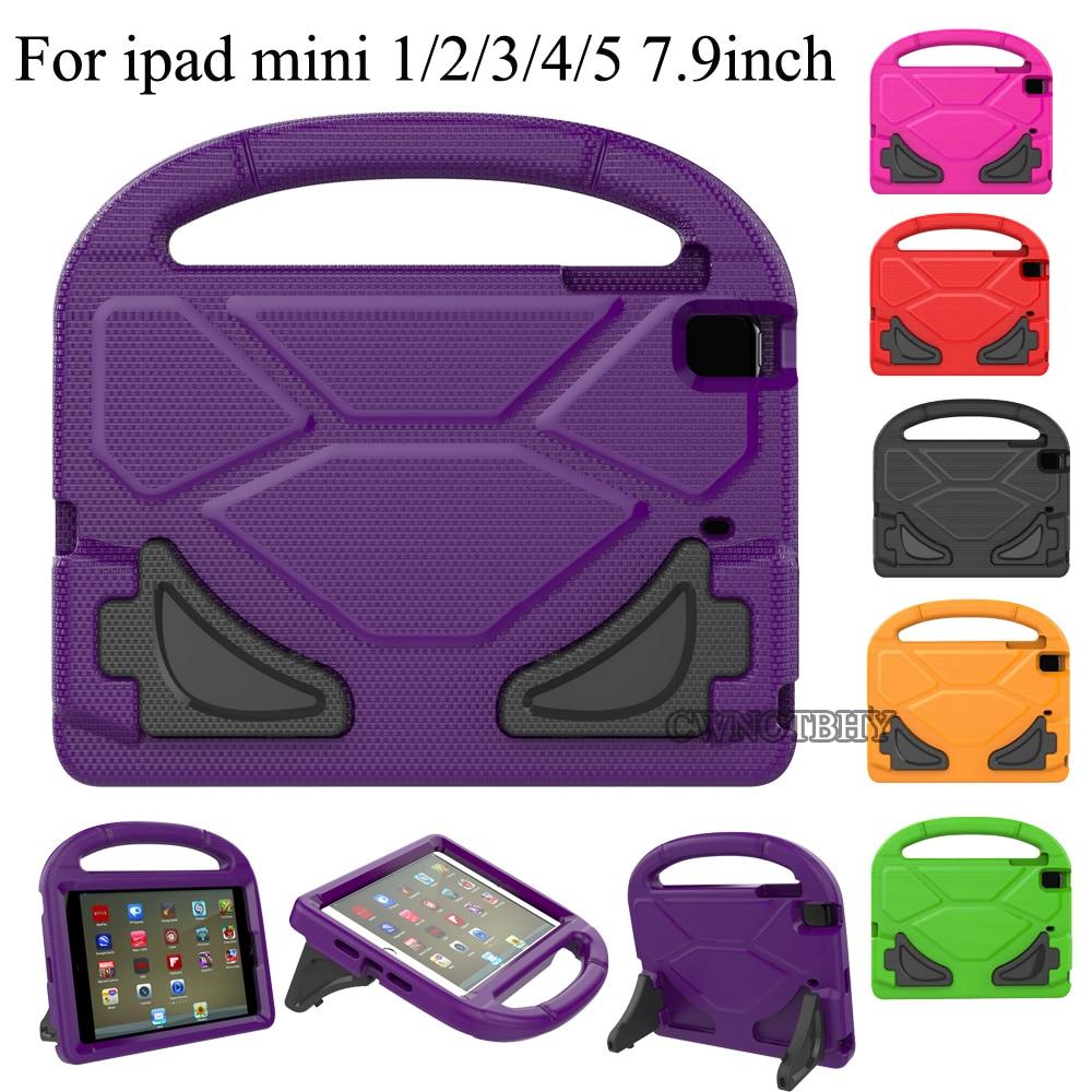 In Staat Eva Dikke Foam Shock Proof Soft Stand Case 3d Cartoon Kids Cover Voor Apple Ipad Mini 4 Mini 2 Mini 3 Mini 5 Kids + Pen