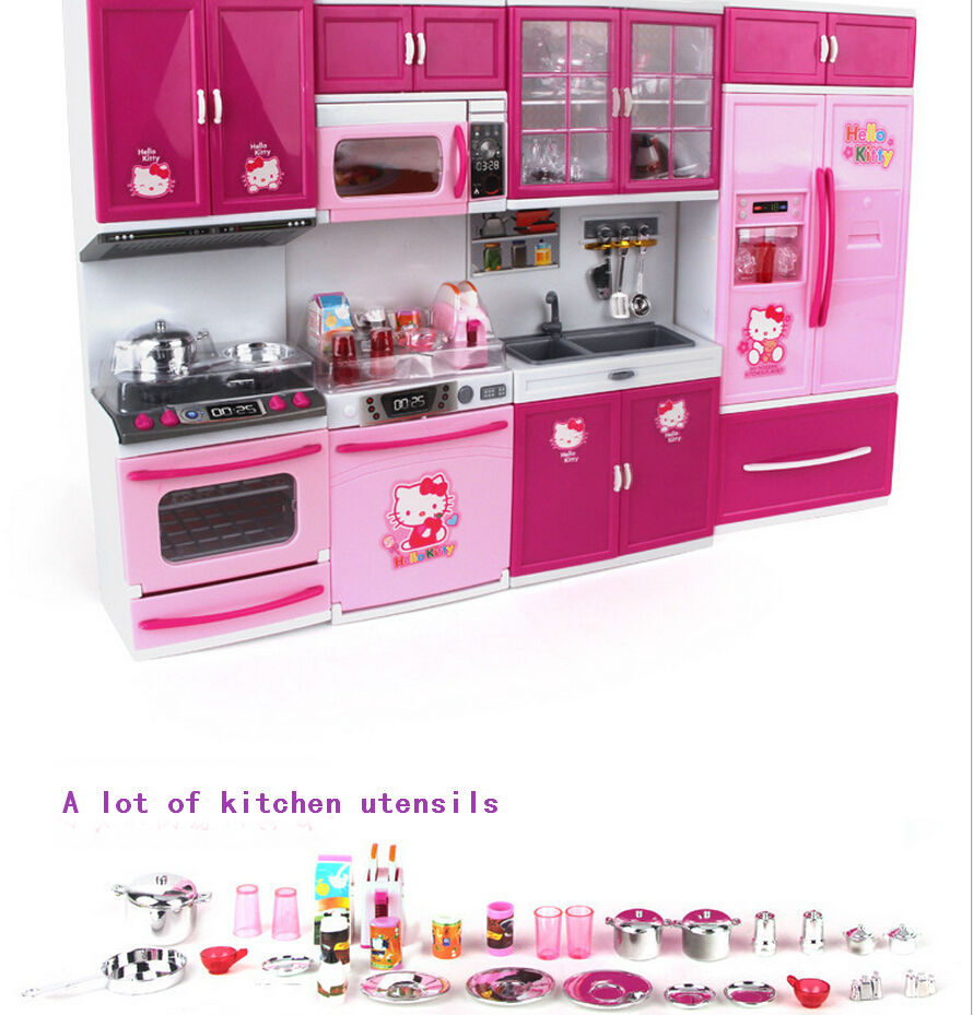 Hello kitty play kitchen set images for Kitchen set toys divisoria