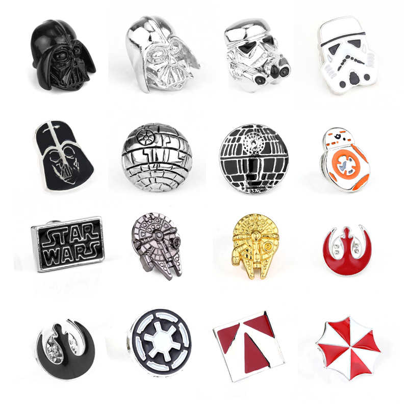 Star Wars Broche Pin Stormtrooper Emaille Pin Star Wars Darth vader Rebel Alliance Falcon badge revers pin mannen vrouwen Film sieraden