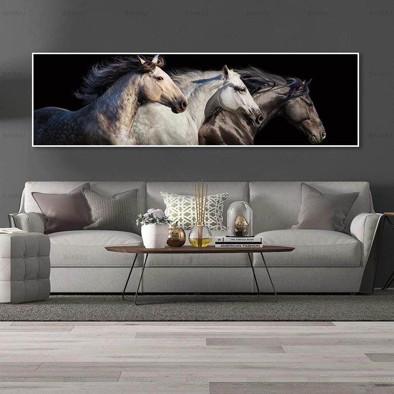 wall picture no frame Art picture wall home decoration canvas painting art prints horse on canvas and posters wall picture