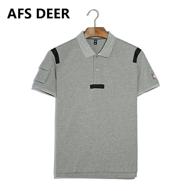 Men Polo Shirts Short Sleeve Cotton Turn-down Collar Solid Slim Polo Tees Shirts Fashion Brand Men Tops Tees  Shirts 11517