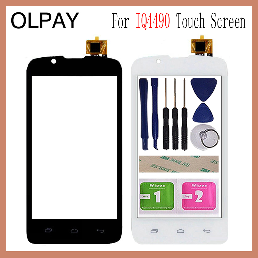 OLPAY 4.0 Inch For Fly IQ4490 ERA Nano 4 IQ 4490 Touch Screen Digitizer Panel Front Outer Front Glass Lens Sensor