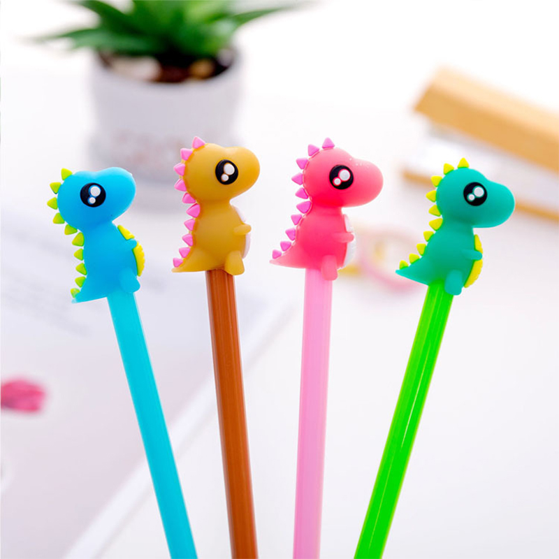 cute Dinosaur Pen marker Gel Pen Signature Pen Escolar Papelaria Office School supplies learning Stationery Promotional Gift