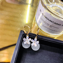 FYUAN Korean Style Crystal Drop Earrings for Women Sweet Bowknot Pearl Dangle Earring Party Fashion Jewelry Gifts
