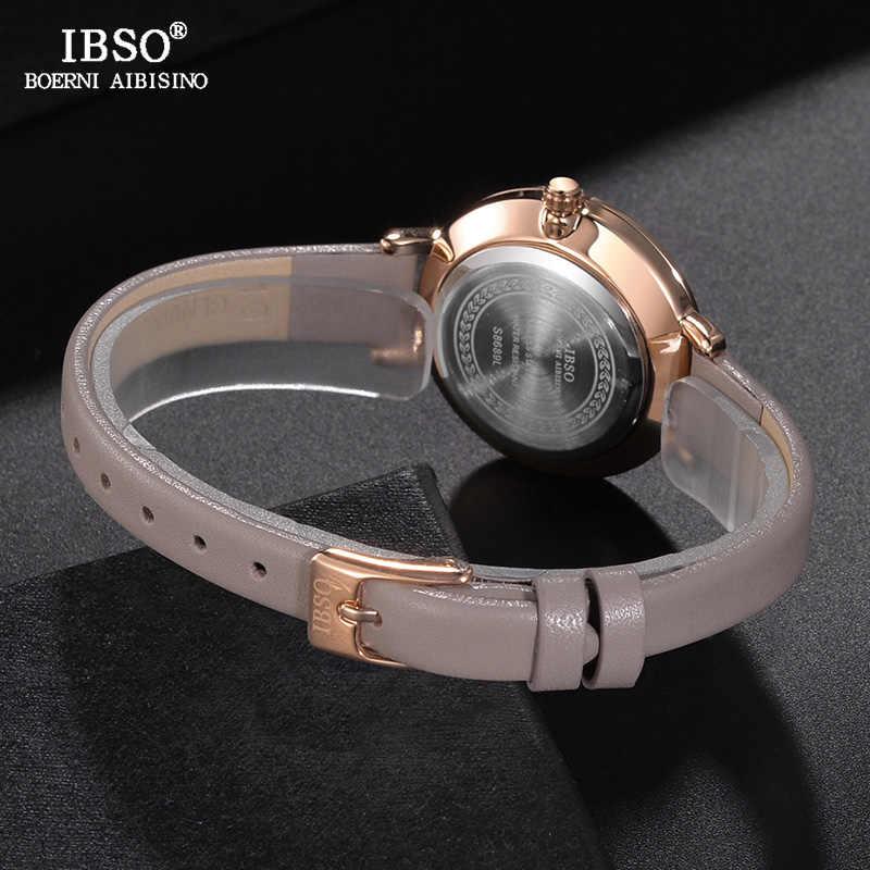 IBSO Marke Luxus Damen Quarz Uhr Lederband Montre Femme Mode Frauen Handgelenk Uhren Relogio Feminino Weibliche Uhr