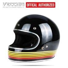 VECCHIO Pieno Viso da corsa D'EPOCA moto Jet casco Capacete Motocross moto Casco Jet Retro harley casco IN FIBRA di VETRO