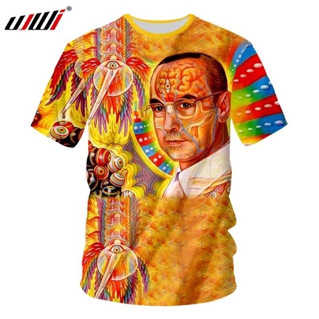 442b096ea4ad3 US $11.01 45% OFF|UJWI Psychedelic Lsd Tshirt Men Funny 3D Digital Print T  Shirts Drug Culture Unisex T shirt Male Short Sleeve Casual Tees-in ...