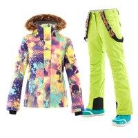 2018 GSOU сноуборд горнолыжный костюм женский,лыжный костюм женский,Женщины Лыжный куртка,лыжный костюм женский,лыжные костюмы ,зимний костюм