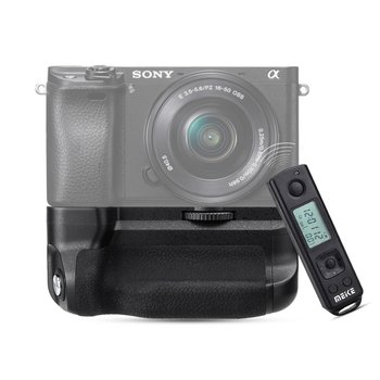 Meike MK-A6300-Pro Battery Grip 2.4G Wireless Remote Control for Sony A6300 A6400 NP-FW50 MK A6300 pro