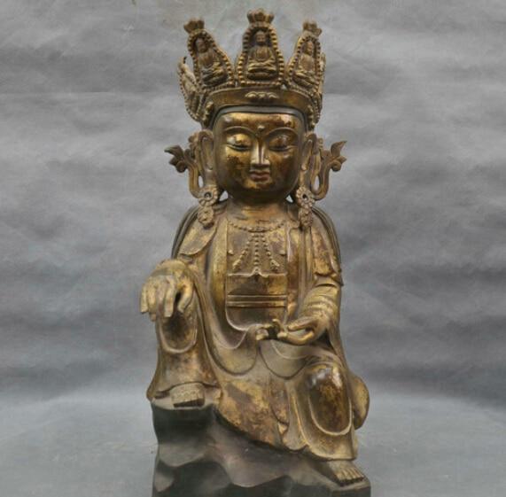 16 China Tibetan Buddhism Guanyin Kwan-yin Bodhisattva Bronze Statue #1 R0713 B040316 China Tibetan Buddhism Guanyin Kwan-yin Bodhisattva Bronze Statue #1 R0713 B0403