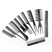 10 pcs Professional Hair Comb Anti-static Barbershop Style Makeup Brush Salon Products Home DIY Hair Styling Tools HB88
