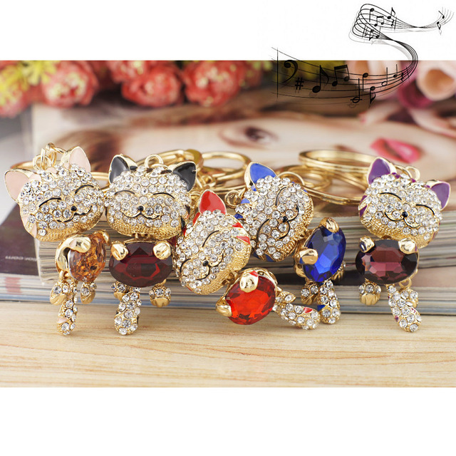 Lucky Smile Cat Crystal Jewelry