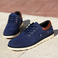 Autumn New 2016 Male Oxford Shoes For Men Casual Suede Dress Shoes x Solid Color Lace-up Man Flats