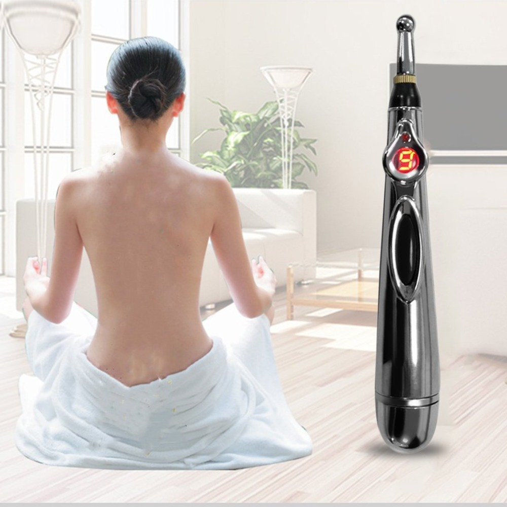 Electric Acupuncture Point Massage Pen Pain Relief Laser Therapy Electronic Meridian Energy Pen Body Head Back Neck Leg Massager 2