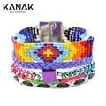 KANAK FASHION Ipanema Magnetic Clasp Handmade Beads Bracelets Orange Wristband Colorful Loom Bands Wrap love valentine's Jewelry