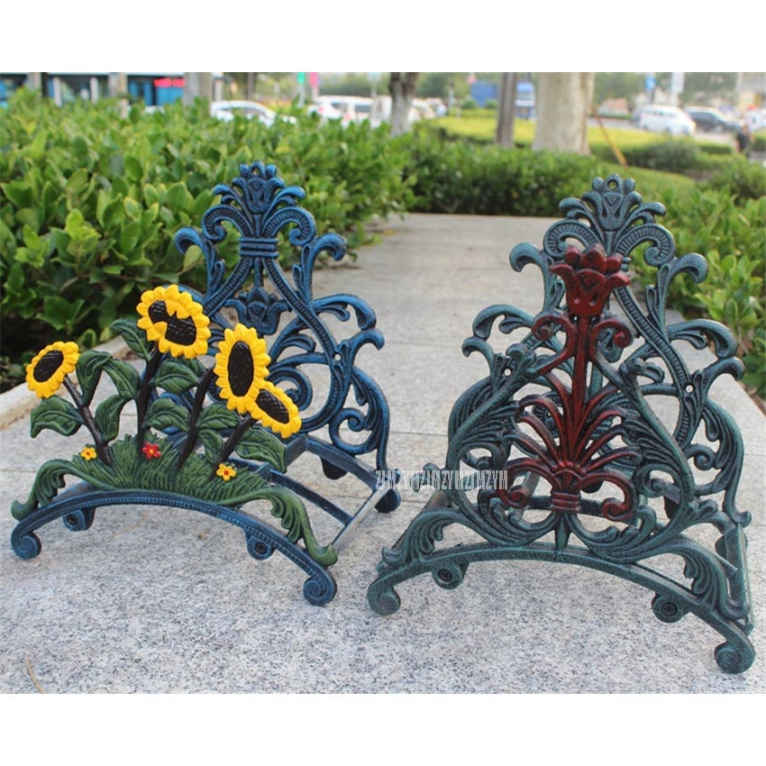 European Modern Style Iron Art Garden Storage Holder Rack Water Pipe Tube Wall Hanging Ourdoor Home Organizer Shelf Home Decor