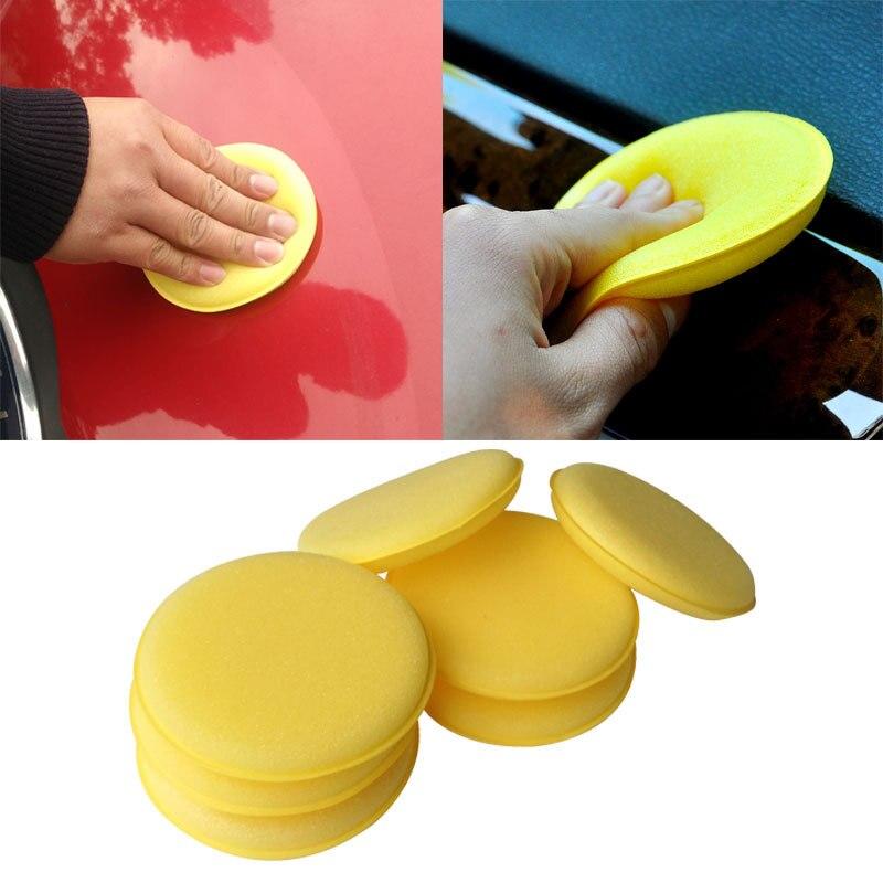 Foam-Sponge Wax-Polish Vehicle Car-Detailing-Care Hand Wash-Clean Sponge-Pad/buffer Yellow