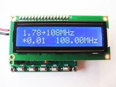 DDS FM signal generator 78~108MHz PLL digital display LCD minitypeDDS FM signal generator 78~108MHz PLL digital display LCD minitype