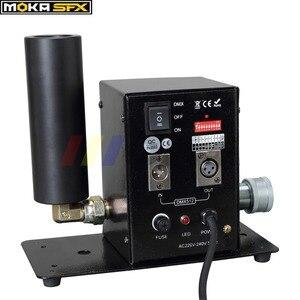 Image 2 - 2 قطعة/الوحدة بالجملة DMX 512 مرحلة Co2 طائرة آلة الجافة الجليد الضباب تأثير ، CO2 الدخان آلات المؤثرات الخاصة مدفع