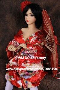 Image 3 - WM DOLLS 100cm Top quality Metal Skeleton Big Breasts Anime Silicone Sex Dolls For Men full Size Lifelike vagina oral love dolls