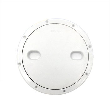 8 InchRound White Plastic Anti Slip Hand Hole Marine Boat RV Hatch Cover  Screw Out Deck Cover Inspection Plate plastic kids hand boat