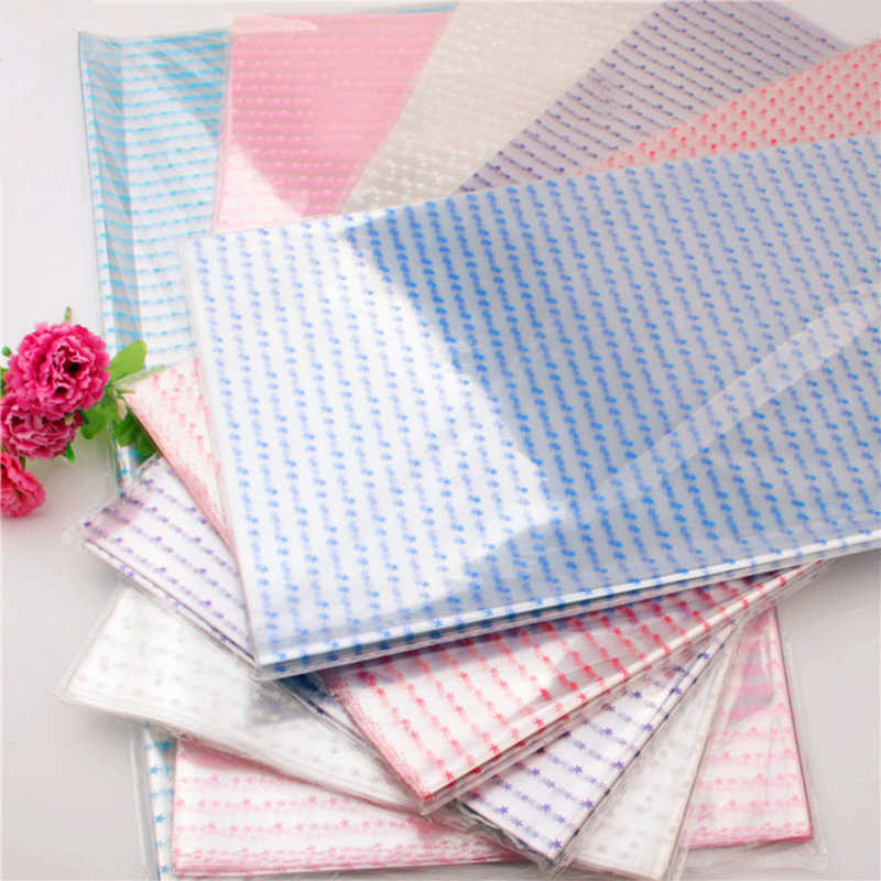 Amawill 70pcs/pack Cellophane Star Printed Wrapping Paper Waterproof Paper for Wedding Bouquets Supplies Florist Accessories 8D