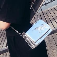 Летняя Серебристая сумка через плечо для женщин, мини сумка на плечо с цепочкой, маленькая квадратная сумка-мессенджер, женские роскошные брендовые сумки