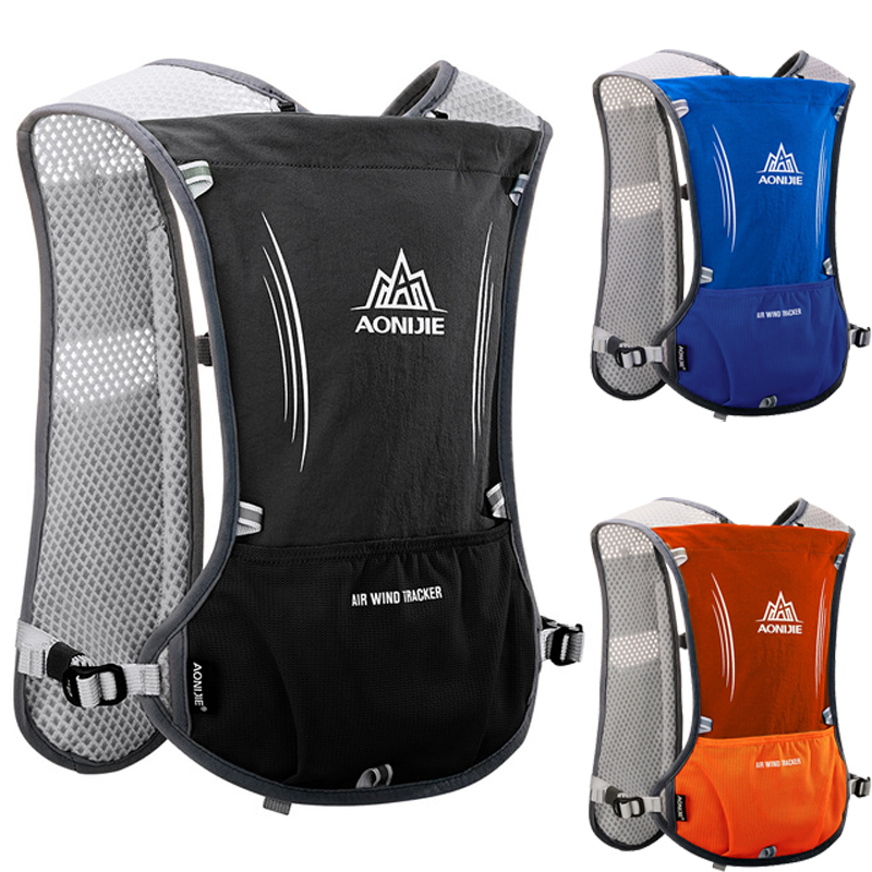 AONIJIE Outdoor Running Cycling 5L Hydration Backpack Vest Hiking Camping Marathon Race Rucksack Bag Harness Water Bladder Bag