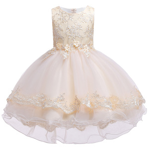 Image 1 - 2019 Kids Tutu Birthday Princess Party Dress for Girls Infant Lace Children Bridesmaid Elegant Dress for Girl baby Girls Clothes