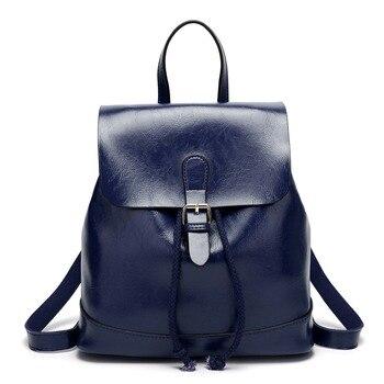 2018 Brand Bags backpacks Genuine leather women backpacks Cowhide students backpack men women fashion wild double shoulder bags