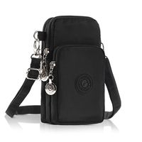 Universal Three Layers Storage Zipper Waterproof Shoulder Mobile Phone Bag Wrist Cash Bag For IPhone 5