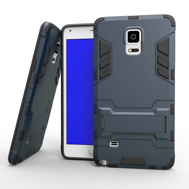 Armor Back Cover Case for Samsung Galaxy Note 4 PC+TPU 2 in 1 Fundas Kickstand Coque for Galaxy Note4 SM-N910S N910C N910K N910L