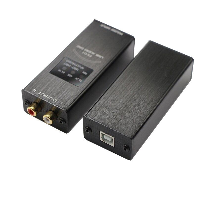 FX-AUDIO FX-01 Mini USB DAC Sound Card Audio Decoder Sampling Rate Display SA9023 PCM5102 24BIT 96K Black Aluminum 2017 Newest original usb 5102 pci 5102 selling with good quality and contacting us