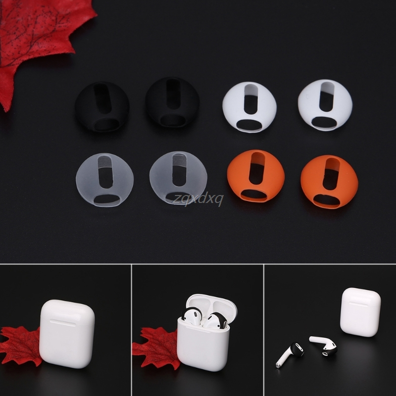4pair Silicone Earbuds Cover Anti-Lost Ear Cap For Apple Airpods Wireless Bluetooth Earphone In-ear Headse Electronics Stocks