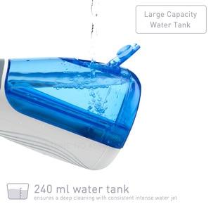 Image 3 - Waterpulse V400 240ml taşınabilir akülü diş duşu Oral Irrigator elektrikli sulama Oral Irrigators 4 İpuçları diş pensesinde