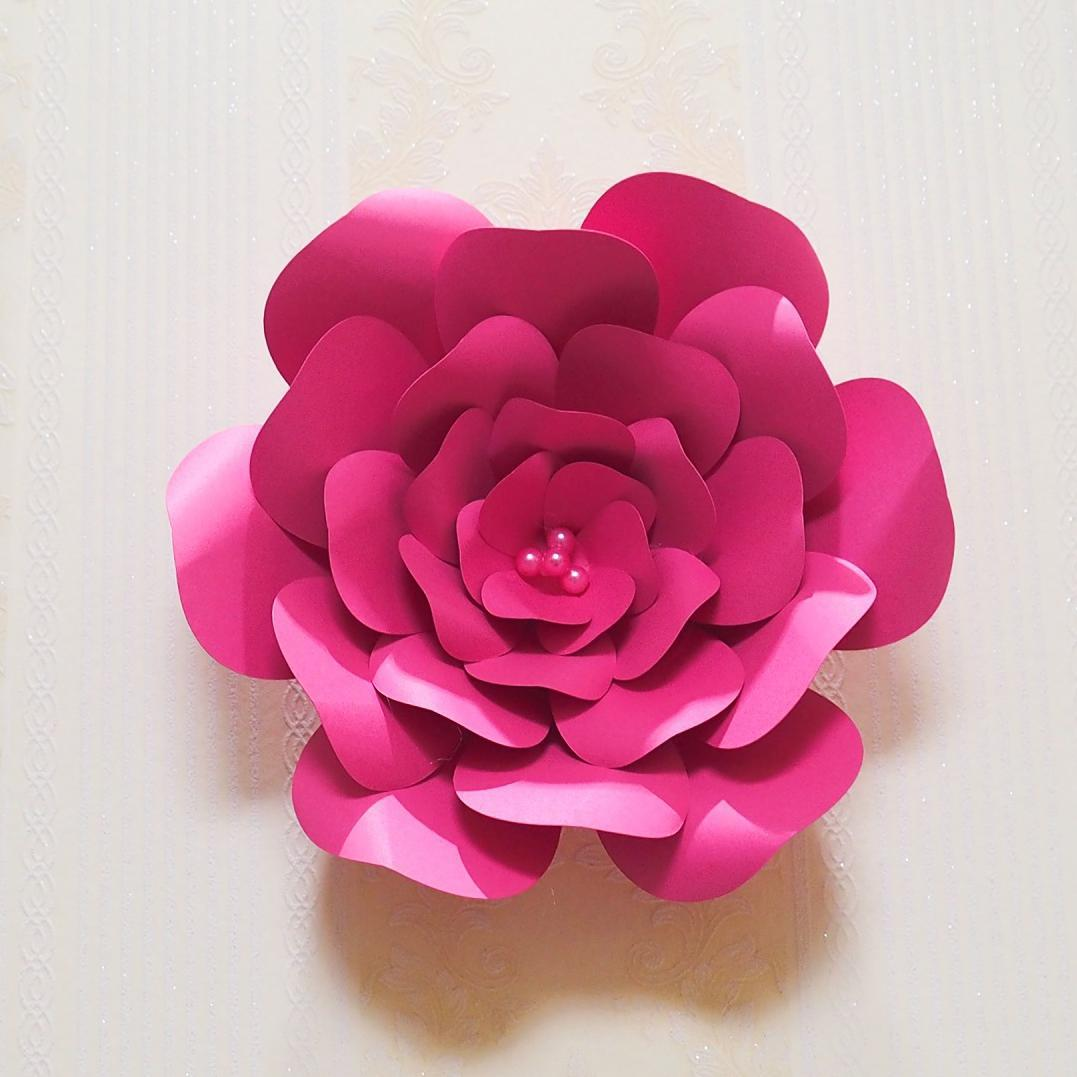 Aliexpress Buy 2018 Half Made Giant Paper Flowers 6pcs