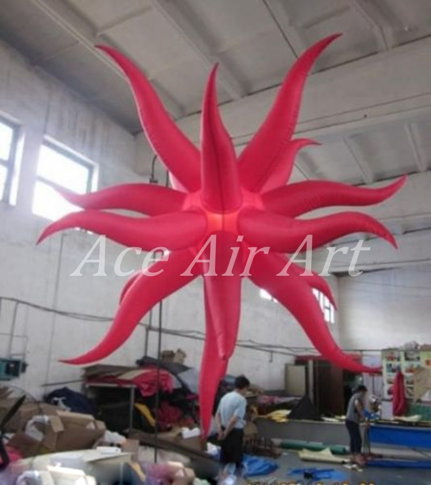 Beautiful giant party item type wedding decoration inflatable Starfish / Sea Stars for Night event, Party with Fan