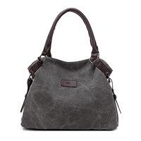 Nieuwe Vrouwen Messenger Bags Kwaliteit Canvas Handtas Match Lederen Vintage Dames Handtas Effen CrossBody Schoudertas Big Groothandel