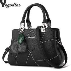 Женские сумки, Повседневная Большая вместительная сумка через плечо, украшение для волос, топ-женская сумка-кошелек, сумка-тоут, сумки на пл...