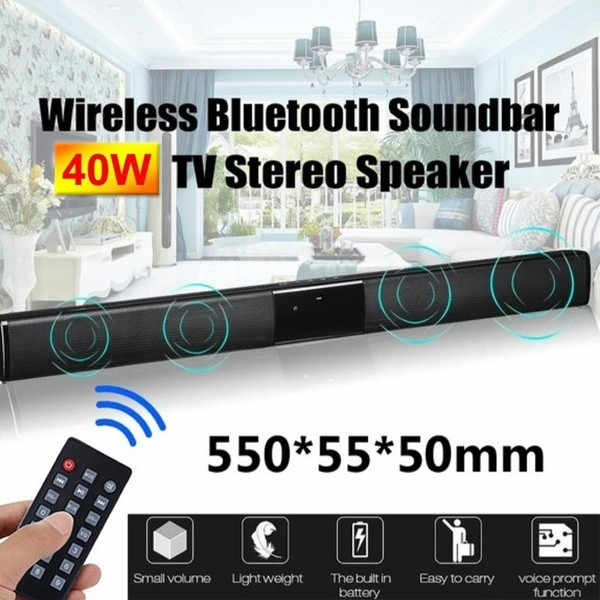 2020 Nieuwe Draadloze Bluetooth Soundbar Stereo Speaker Home Theater Tv Sterke Bass Sound Bar Subwoofer Met Afstandsbediening