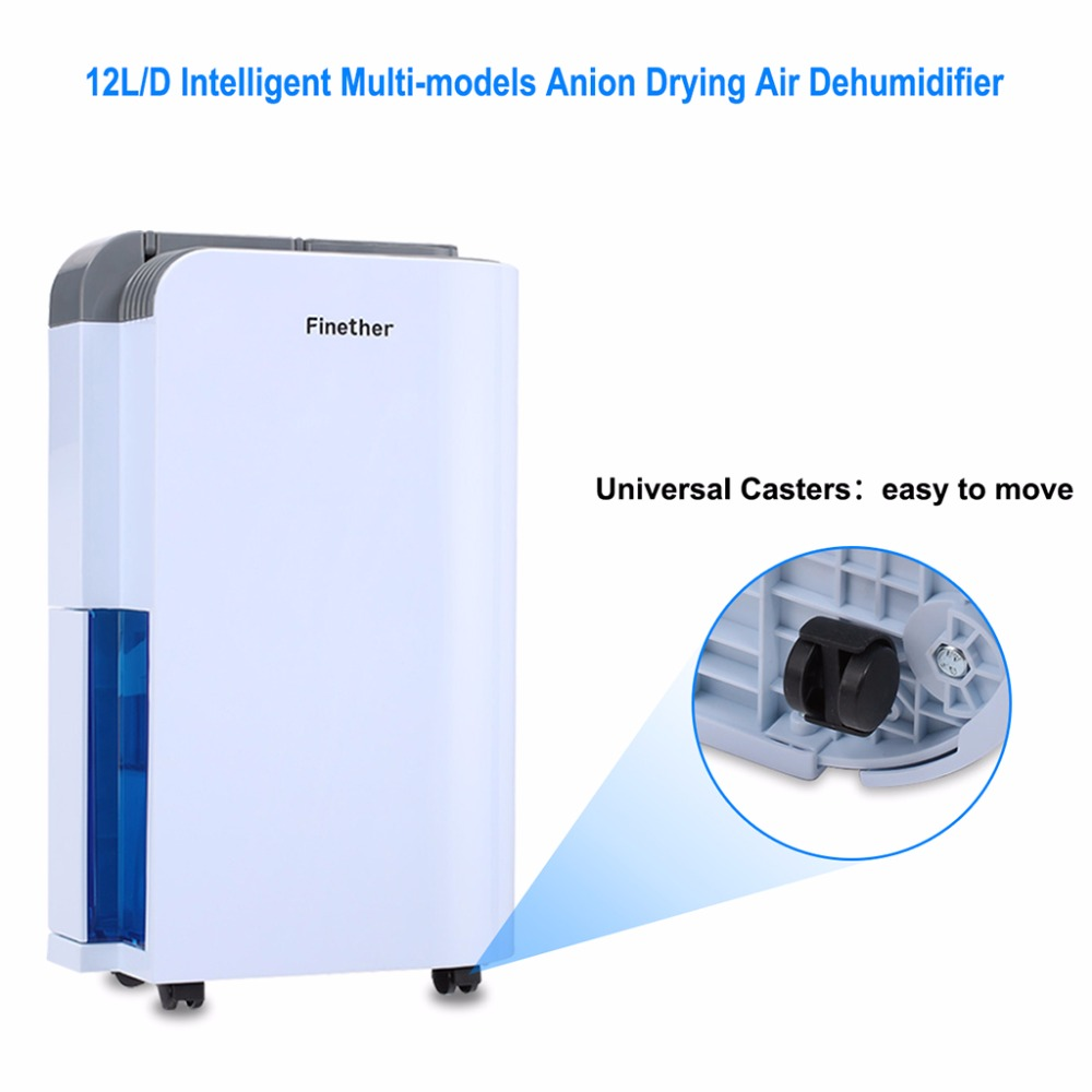 Aliexpress.com : Buy Finether 1.5L Air Dehumidifier OL12 011E 2 Wind Speeds  Low Noise Touch Button Control Air Purify Continuous Drying Dehumidifiers  From ...