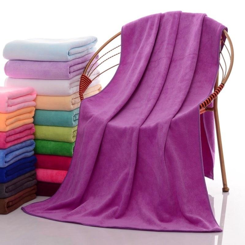 10 Color New Fashion Soft Microfibre Beach Bath Towel Swim Washcloth Lightweight Large Towel Sports Travel Accessories