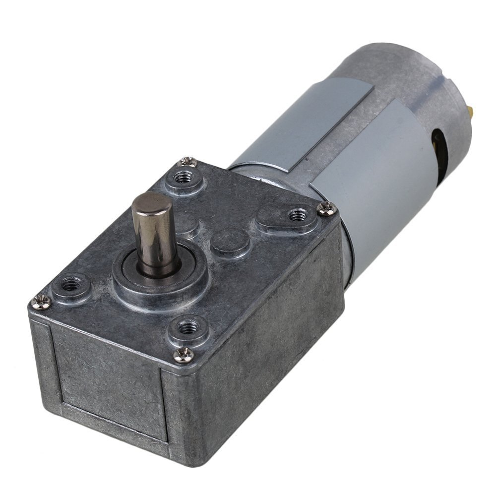 4500RPM Right Angle High Torque Turbo 12V Electric Worm Geared DC Motor with Metal Output Shaft 52RPM 33RPM 13RPM 22RPM
