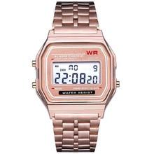 Women Digital Watch 2019 Men LED Dress Golden Wristwatch Rel