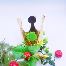 10 pcs St. Patrick's Day Kid Crown Party Crown Cap with Four-leaf Clover Children Birthday Party Hats Celebration Decor