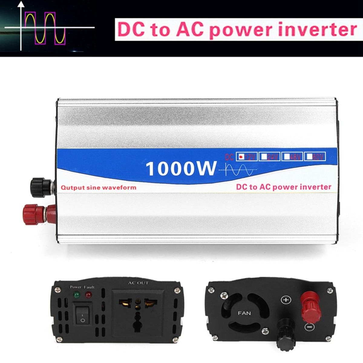 1000 Вт инвертор DC 12 В к AC 220 В Чистая синусоида Мощность инвертор передатчик для дома автомобильные преобразователи поставки