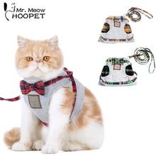 Hoopet ошейник для кошек, поводок, регулируемый нейлоновый мягкий дышащий воздушный нейлоновый сетчатый поводок для собак, домашних животных, кошек, поводок и поводок, набор